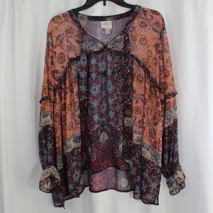 Knox Rose Paisley Top